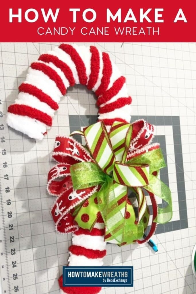 Simple Diy Candy Cane Wreath Tutorial How To Make Wreaths Wreath Making For Craftpreneurs