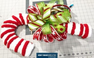 Simple DIY Candy Cane Wreath Tutorial