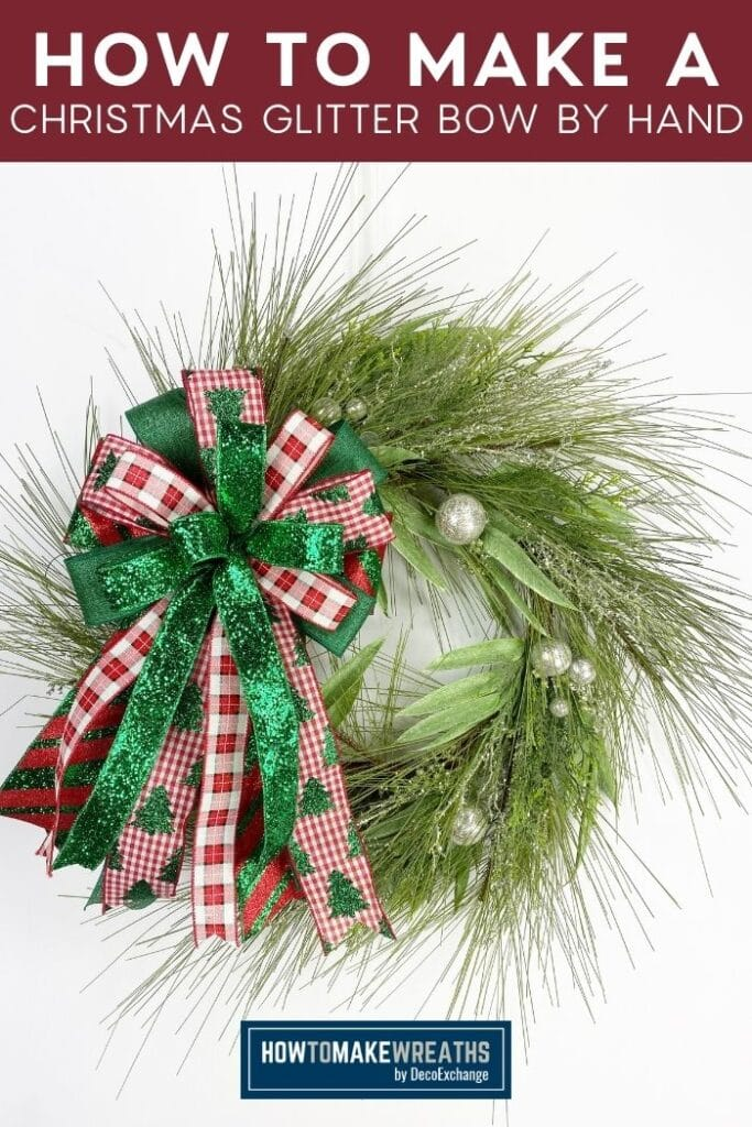 How to Make a Christmas Glitter Bow by Hand