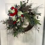How to Make a Grapevine Christmas Pine Wreath