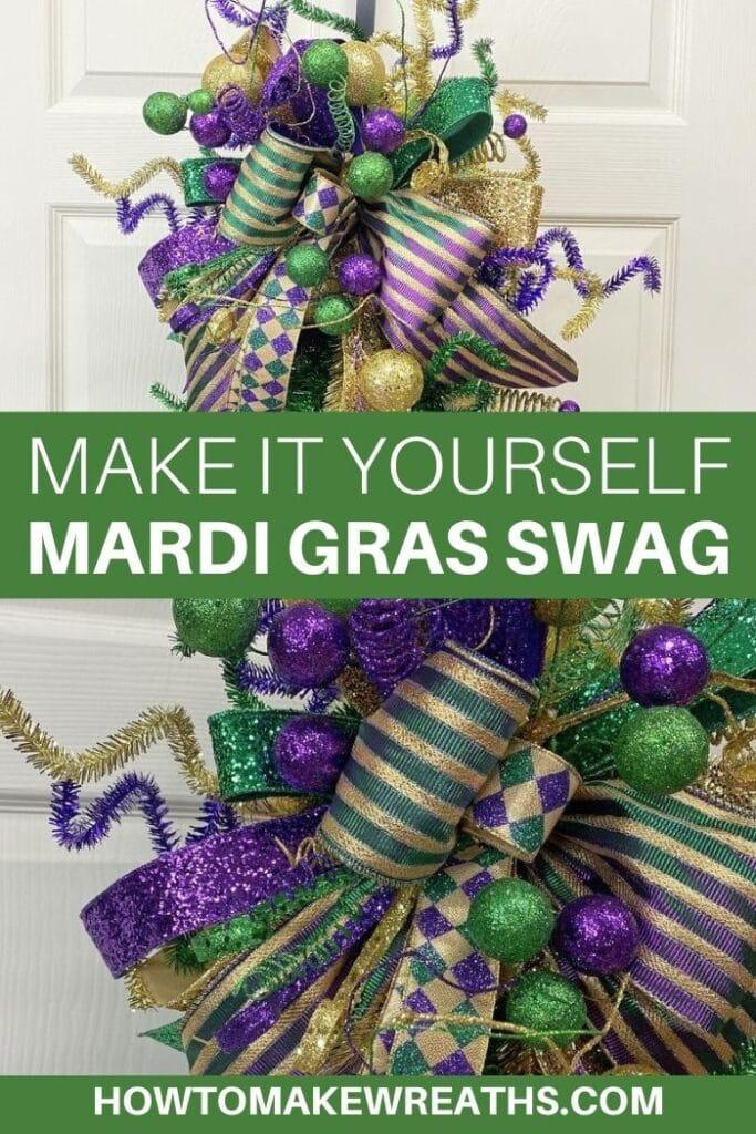 Make It Yourself Mardi Gras Swag