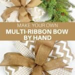Make Your Own Multi-Ribbon Bow by Hand
