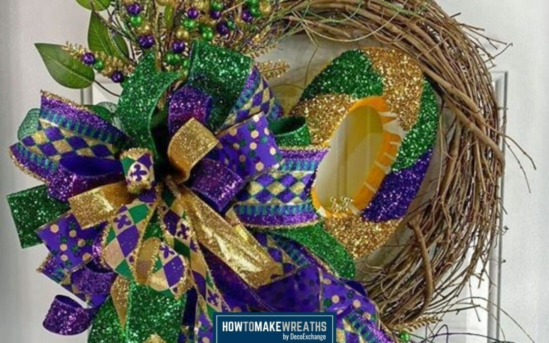 How To Make A Grapevine Mardi Gras Door Wreath