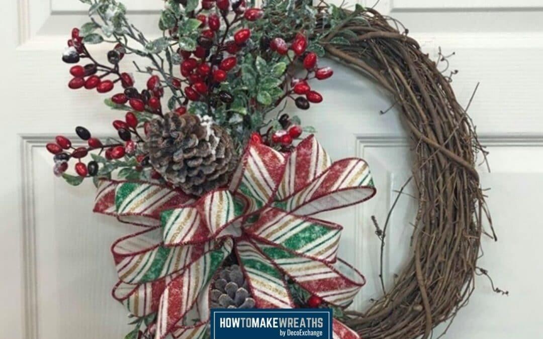 Simple DIY Christmas Wreath Idea For The Holidays