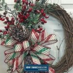 Simple Christmas Grapevine Wreath