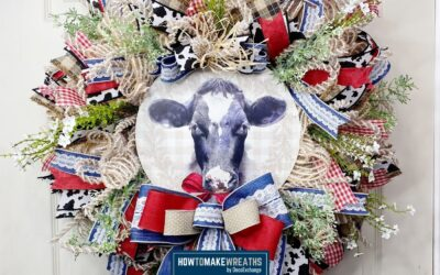 How To Make A Cow Themed Everyday Wreath