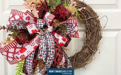 Simple DIY Valentine Wreath Tutorial