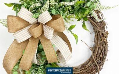 Simple Basic Grapevine Wreath Idea