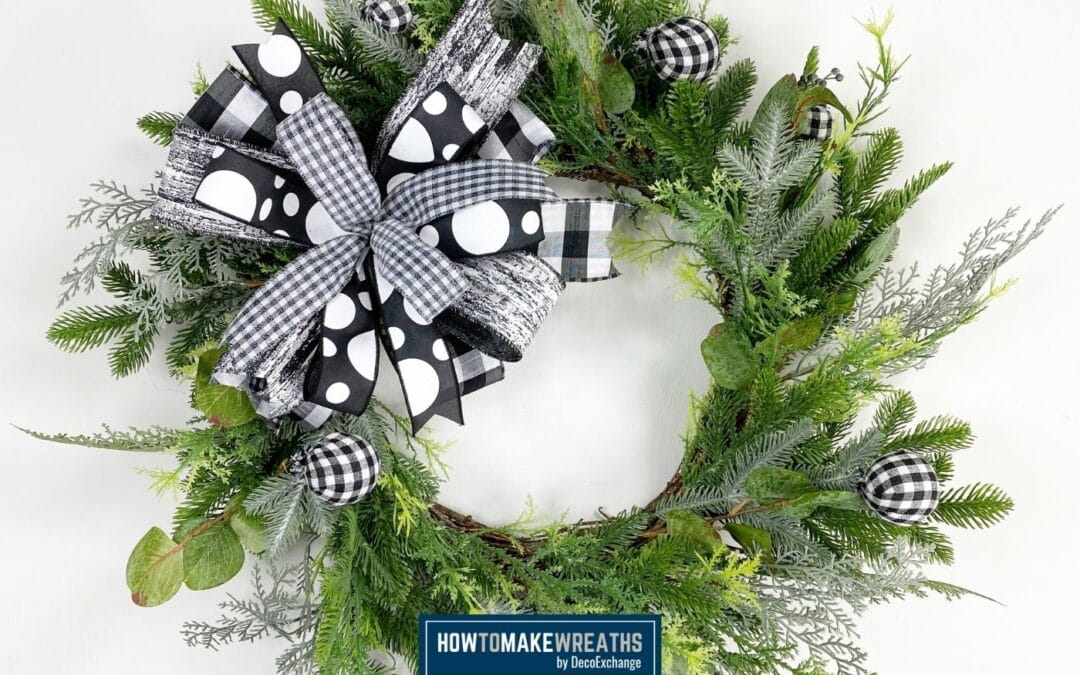 Make A Black and White Bow By Hand