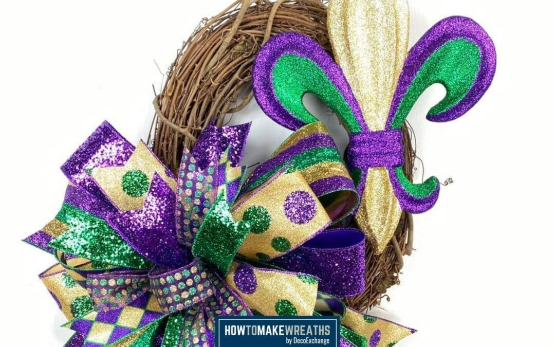 How To Make A Mardi Gras Wreath With A Fleur De Lis