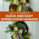 DIY Quick and Easy Spring Door Hangers