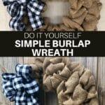 DIY Simple Burlap Wreath
