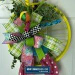 spring bike wheel wreath pin image