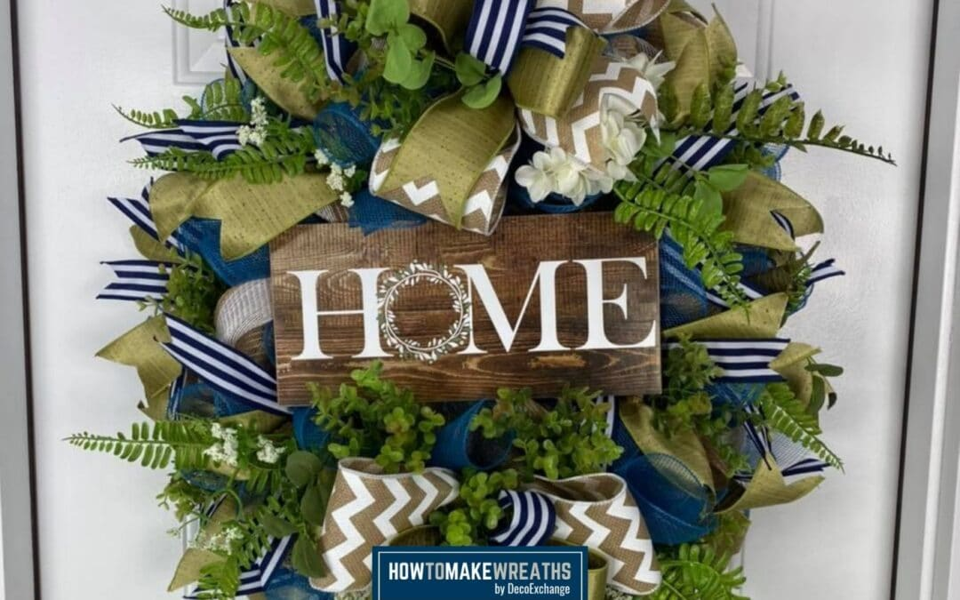 Deco Mesh Home Wreath