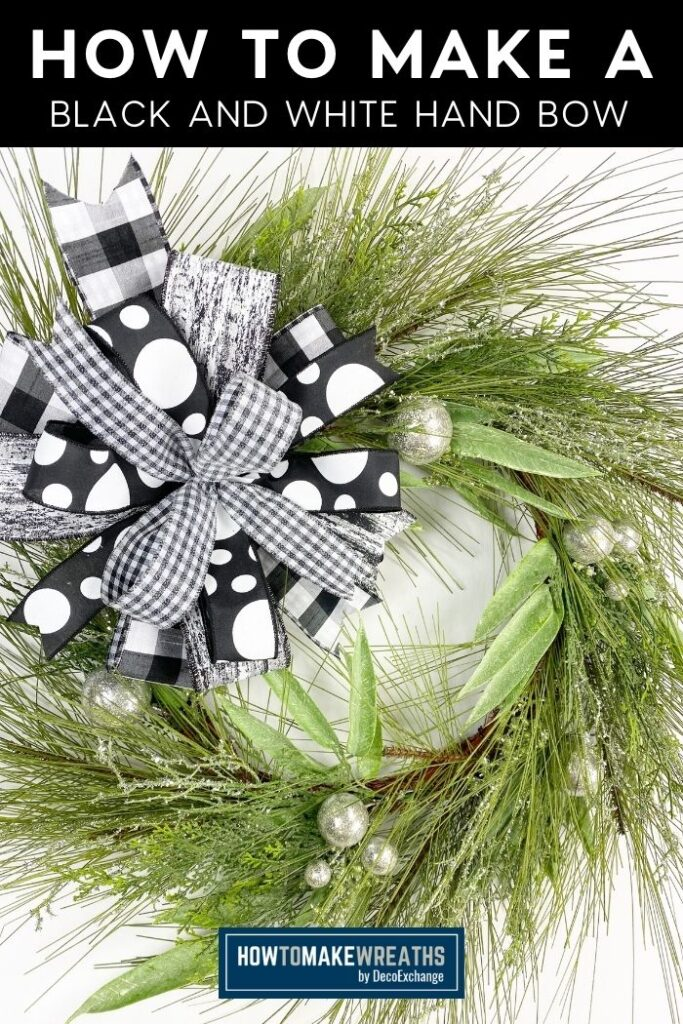 How to Make a Black and White Hand Bow