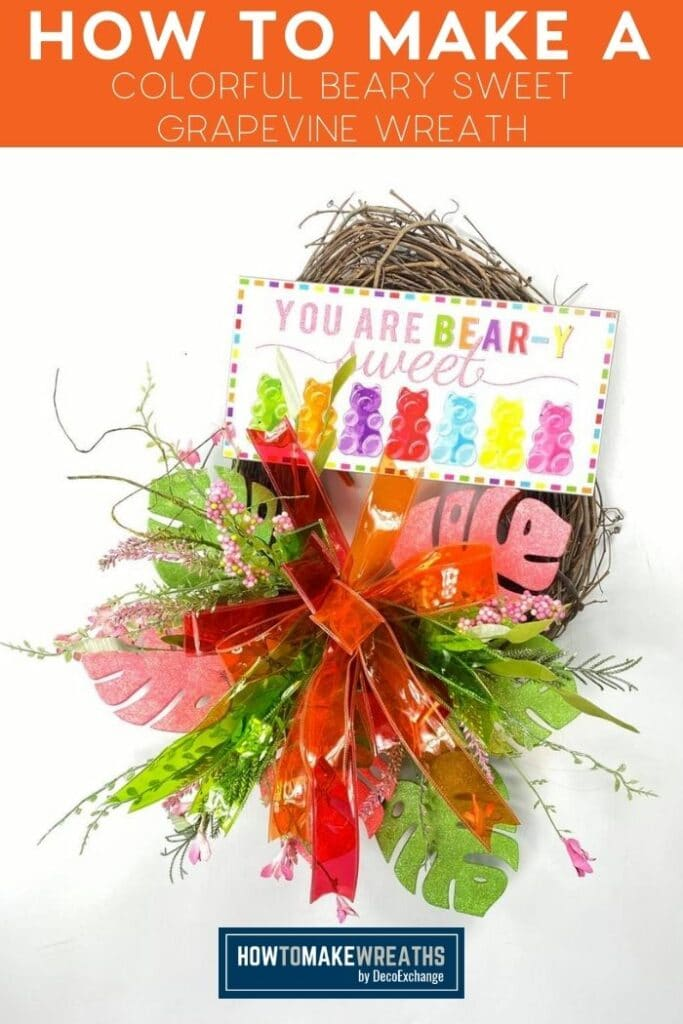 How to Make a Colorful Beary Sweet Grapevine Wreath