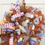 How to Make a Orange Easter Bunny Welcome Wreath