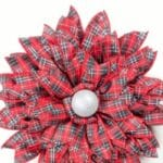 How to Make a Red Plaid Ribbon Flower
