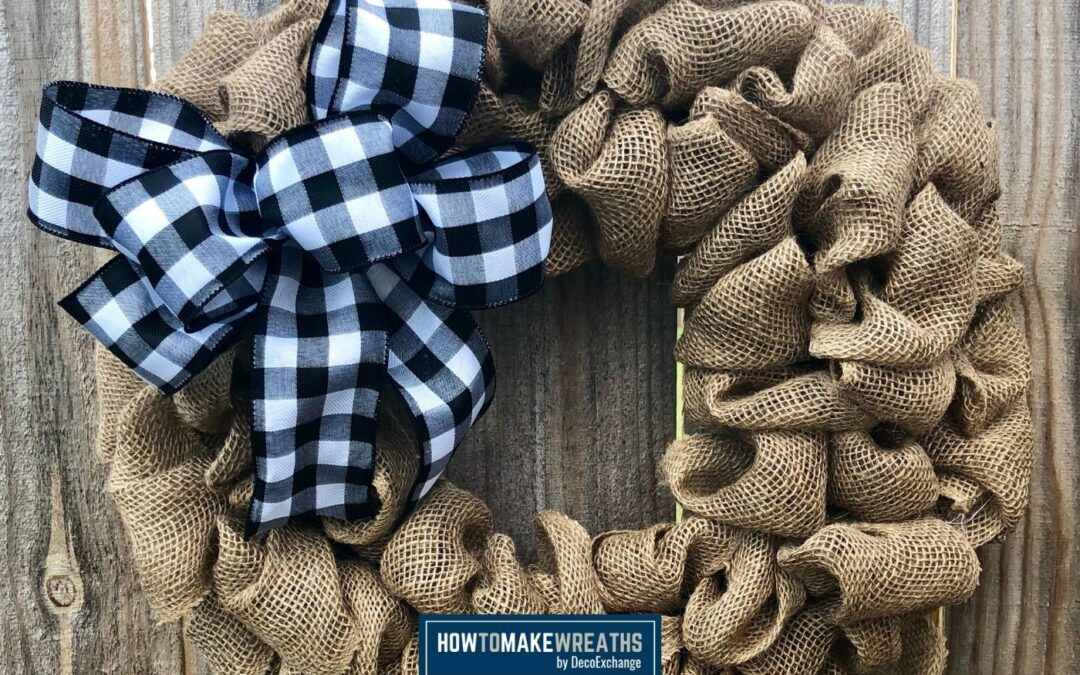 How To Easily Make A Simple Burlap Wreath