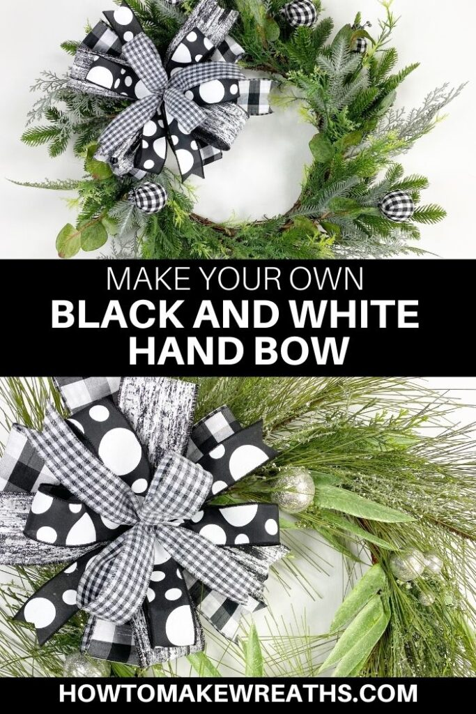 Make Your Own Black and White Hand Bow