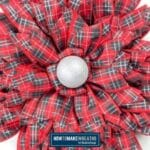 Red Plaid Ribbon Flower Wreath