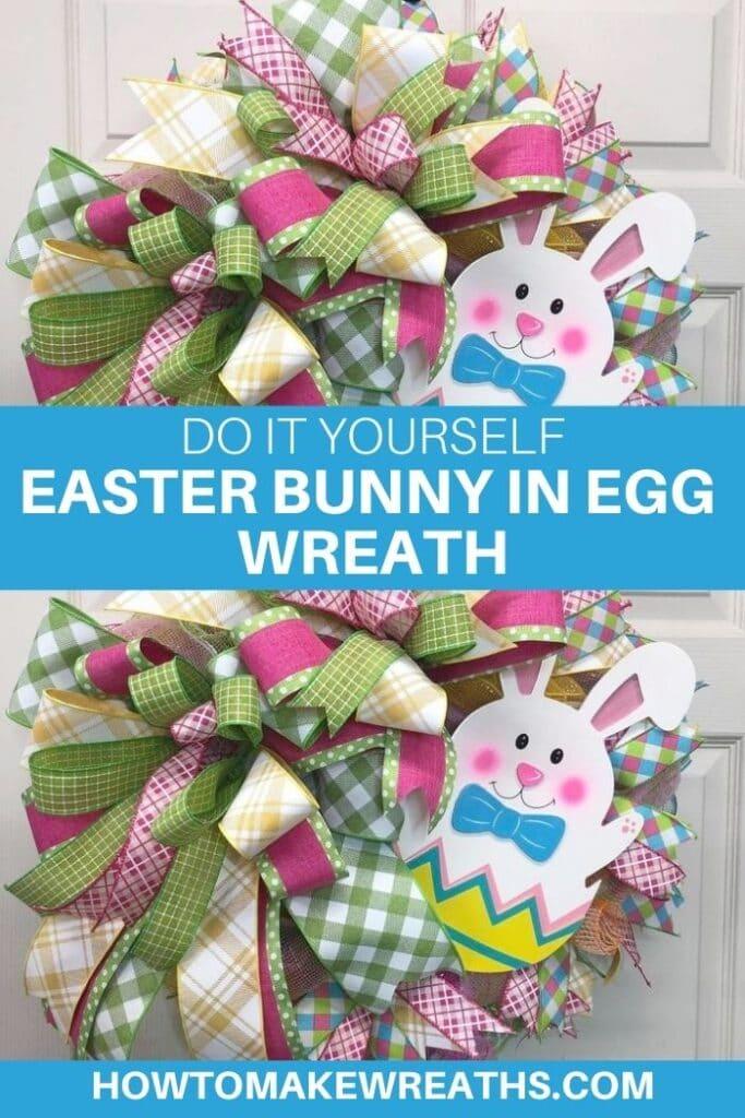 DIY Easter Bunny in Egg Wreath