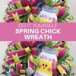 Do It Yourself Spring Chick Wreath