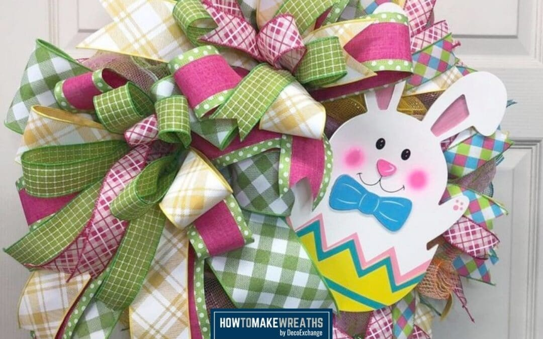 Bunny In An Easter Egg Wreath