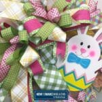 Easter Bunny in Egg Wreath