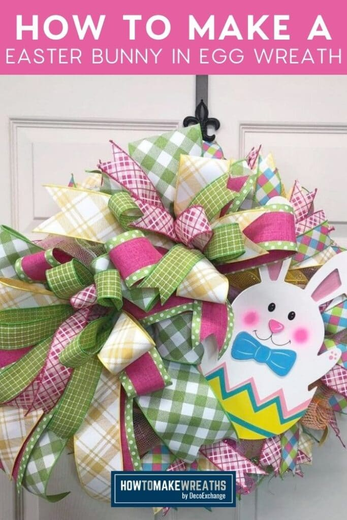 How to Make a Easter Bunny in Egg Wreath
