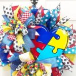 How to Make a Puzzle Piece Autism Heart Wreath