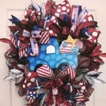 How to Make a Red, White, and Blue Patriotic Truck Mesh Wreath