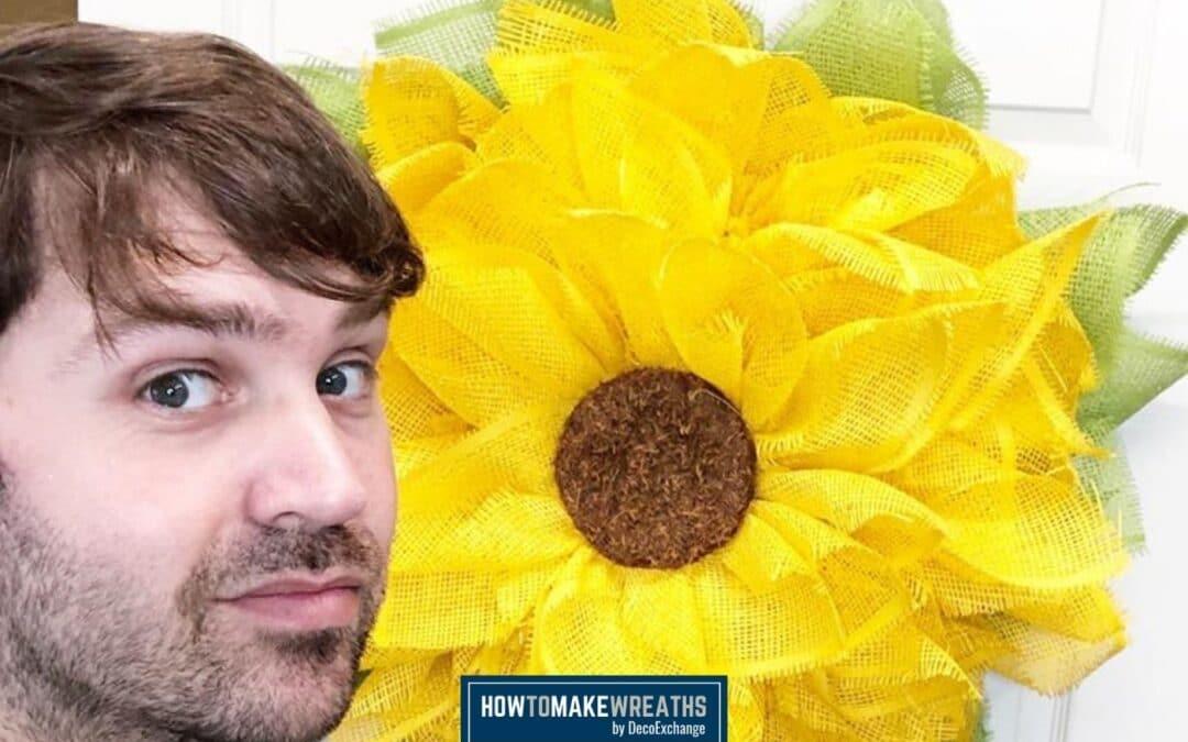 How To Make A DIY Sunflower Wreath