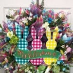 How to Make a Welcome Plaid Bunnies Wreath
