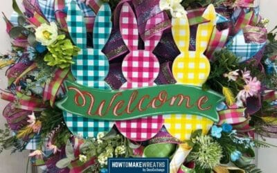 How to Make a Plaid Bunnies Welcome Wreath