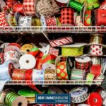 shelves filled with assorted ribbons for wreaths