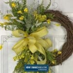 Yellow Floral Grapevine Wreath
