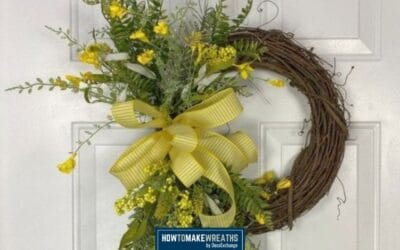 How to Make a Yellow Floral Grapevine Wreath
