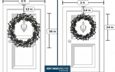 Wreath Sizes: How To Choose The Right Wreath Size For Your Front Door