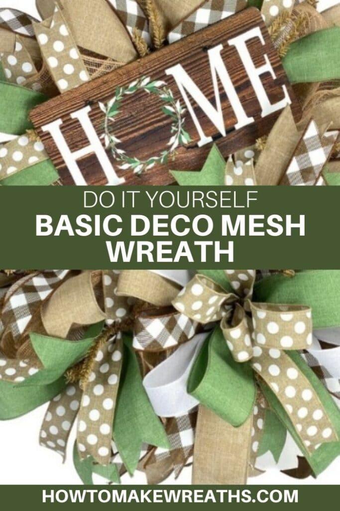 DIY Basic Deco Mesh Wreath