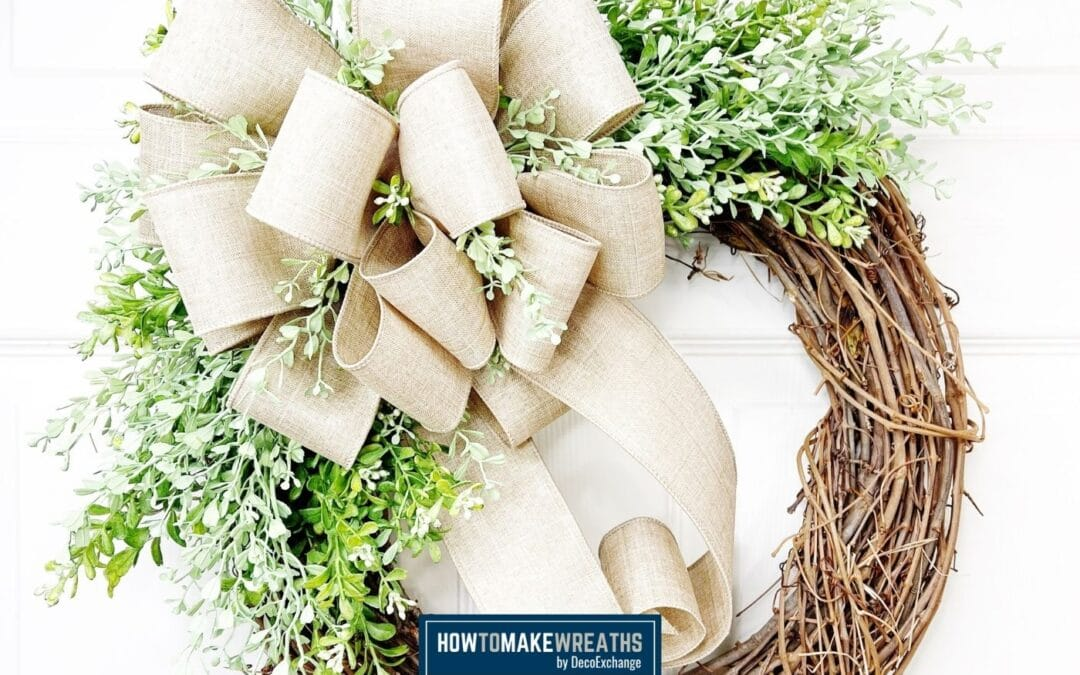 Everyday Grapevine and Burlap Wreath