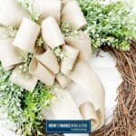 Everyday Grapevine with Burlap Ribbon