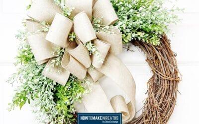 Everyday Grapevine and Burlap Wreath