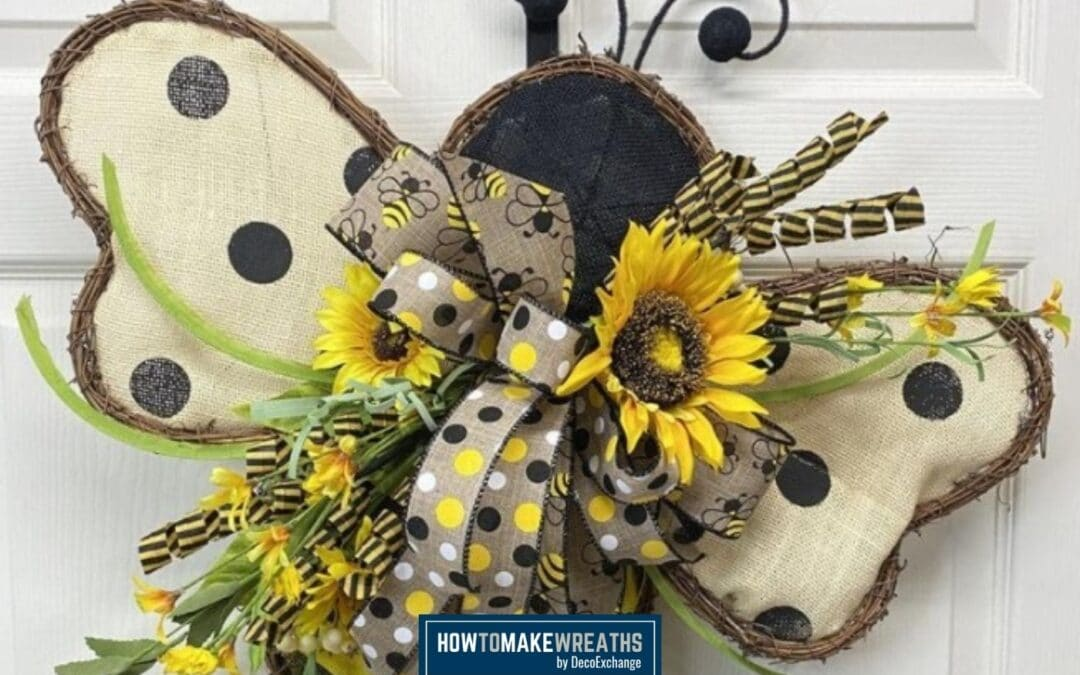 How To Make A Fun Bee Wreath with Sunflowers