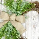 How to Make a Evergreen and Burlap Grapevine Wreath