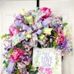 How to Make a Let Love Grow Spring Floral Grapevine