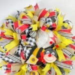 How to Make this Every Day Bumble Bee Mesh Wreath