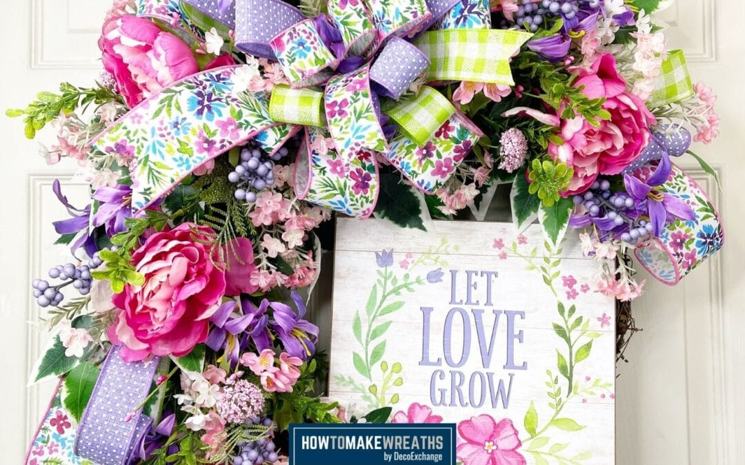 Make Your Own Spring Floral Grapevine Wreath