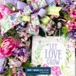 Let Love Grow Spring Floral Grapevine Wreath
