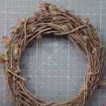 prepping a grapevine wreath frame